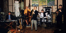 Jazz Ambience performing at a wedding in Chilford Great Hall, Cambs, UK.